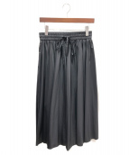 RED VALENTINO(レッドヴァレンティノ)の古着「ナイロンプリーツスカート」|ブラック
