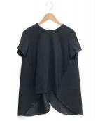 YOKO CHAN(ヨーコチャン)の古着「ウィングカットソー」|ブラック