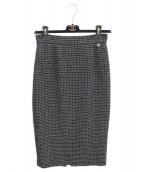 CHANEL(シャネル)の古着「ツイードスカート」 ブラック