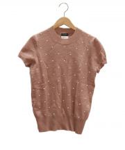 CHANEL(シャネル)の古着「カシミヤ混半袖ニット」|ライトピンク