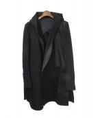 RICK OWENS(リックオウエンス)の古着「ロングコート」|ブラック