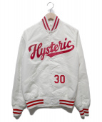 Hysteric Glamour(ヒステリックグラマー)の古着「ナイロンスタジャン」|ホワイト×レッド