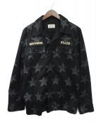 WACKO MARIA(ワコマリア)の古着「スター柄アーミーシャツジャケット」|ブラック