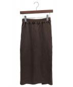 LAppartement×Americana(アパルトモン アメリカーナ)の古着「スウェットスカート」 ブラウン