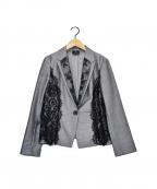 LANVIN COLLECTION(ランバンコレクション)の古着「レースジャケット」|グレー