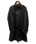 D&G(ディーアンドジー)の古着「ダブルカラートレンチコート」|ブラック