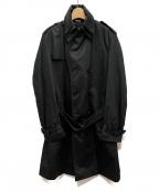 D&G(ドルチェ&ガッバーナ)の古着「ダブルカラートレンチコート」|ブラック
