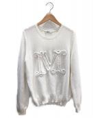 MaxMara(マックスマーラ)の古着「Mロゴニット」|ホワイト