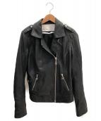 DOMA(ドマ)の古着「ラムレザージャケット」|ブラック