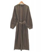 BLAMINK(ブラミンク)の古着「コットンナイロンストレッチワンピース」|オリーブ