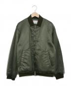 REKISAMI(レキサミ)の古着「チュールレイヤードMA-1ジャケット」|カーキ