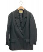 UNITED ARROWS(ユナイテッドアローズ)の古着「タキシードダブルボタンオーバージャケット」|ブラック