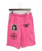 OFFWHITE(オフホワイト)の古着「ハーフパンツ」|ピンク