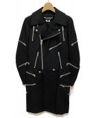 JUNYA WATANABE COMME des GARCONS(ジュンヤワタナベ コムデギャルソン)の古着「ロングライダースジャケット」|ブラック