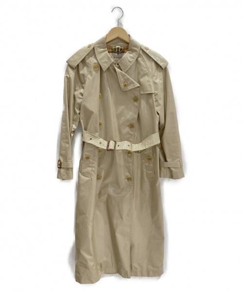 BURBERRY LONDON(バーバリーロンドン)BURBERRY LONDON (バーバリーロンドン) エナメルトレンチコート ベージュ(ハニー) サイズ:IT38の古着・服飾アイテム