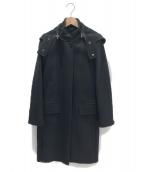 MaxMara(マックスマーラ)の古着「カシミヤ混フード付きジップアップコート」|ブラック