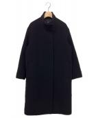 23区(ニジュウサンク)の古着「ダブルクロスベロアスタンドコート」|ブラック