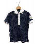 FENDI(フェンディ)の古着「シースルーポロシャツ」|ネイビー