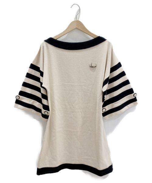 CHANEL(シャネル)CHANEL (シャネル) ゴンドラニットワンピース ベージュ×ブラック サイズ:34の古着・服飾アイテム