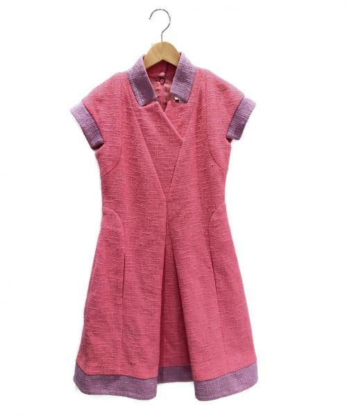 CHANEL(シャネル)CHANEL (シャネル) ツイードノースリーブワンピース ピンク サイズ:34の古着・服飾アイテム