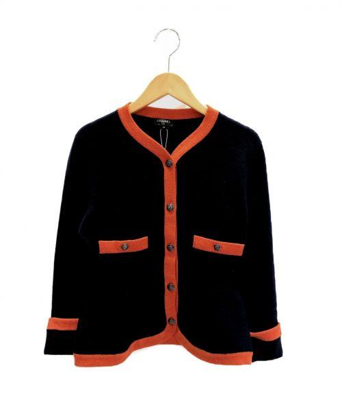CHANEL(シャネル)CHANEL (シャネル) カシミヤセットアップスカート ネイビー×オレンジ サイズ:34の古着・服飾アイテム