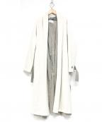 BEIGE(ベイジ)の古着「レイヤードコート」 ホワイト