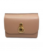 MULBERRY(マルベリー)の古着「コンパクト財布」 ピンクベージュ