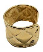 CHANEL()の古着「ヴィンテージマトラッセバングル」|ゴールド