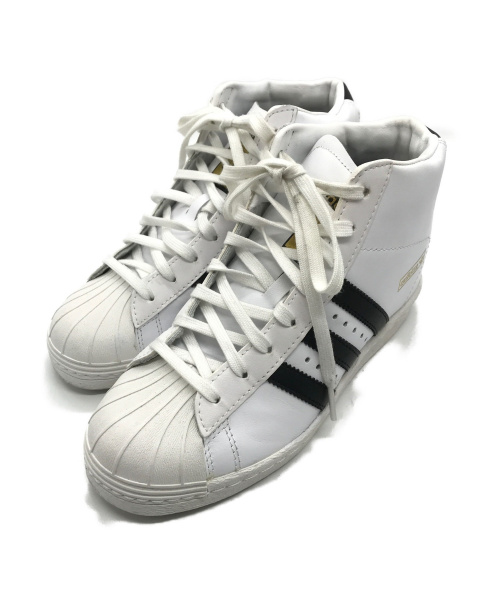 adidas(アディダス)adidas (アディダス) ハイカットスニーカー ホワイト×ブラック サイズ:23cmの古着・服飾アイテム