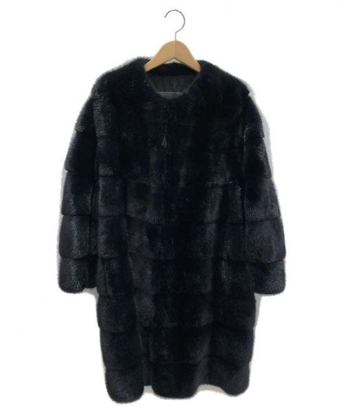 BLANCHA(ブランカ)BLANCHA (ブランカ) ミンクファーコート ブルーブラック サイズ:表記無しの古着・服飾アイテム