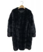 BLANCHA(ブランカ)の古着「ミンクファーコート」|ブルーブラック