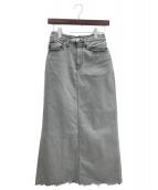 GOOD GRIEF(グッドグリーフ)の古着「ロングデニムスカート」|グレー