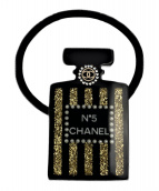 CHANEL(シャネル)の古着「N5パフュームモチーフヘアゴム」|ブラック×ゴールド
