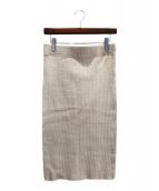 DEUXIEME CLASSE(ドゥーズィエム クラス)の古着「cut and sewnスカート」|ベージュ