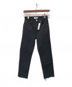 RE/DONE(リダン)の古着「カットオフブラックデニムパンツ」 ブラック