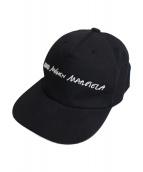 MM6 Maison Margiela(エムエムシックス メゾンマルジェラ)の古着「20SS ロゴキャップ」|ブラック