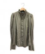 ISABEL MARANT(イザベルマラン)の古着「フリルカラーブラウス」|オリーブ