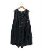 ()の古着「刺繍ワンピース」 ブラック