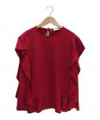RED VALENTINO(レッドヴァレンティノ)の古着「フリルブラウス」 レッド