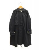 Malle(マル)の古着「タスランオックストレンチコート」|ブラック