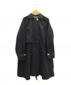 Malle(マル)の古着「タスランオックストレンチコート」 ブラック