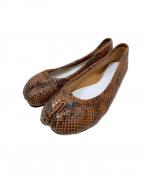 Maison Martin Margiela(メゾンマルタンマルジェラ)の古着「足袋バレエシューズ」|ブラウン