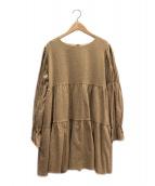 ()の古着「Charlotte mini ワンピース」|ベージュ