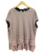 MIU MIU(ミュウミュウ)の古着「フリルカットソー」|ピンク