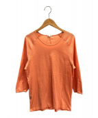 HERMES(エルメス)の古着「パンチングロゴニット」|オレンジ