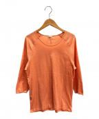HERMES(エルメス)の古着「パンチングロゴニット」 オレンジ