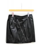 GUCCI(グッチ)の古着「シルク混スカート」|ブラック