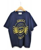 GUCCI(グッチ)の古着「20AW ディスクプリントオーバーサイズTシャツ」|ネイビー