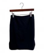 MUSE de Deuxieme Classe(ミューズ ドゥーズィエム クラス)の古着「, トリアセジョーゼットペンシルスカート」|ネイビー