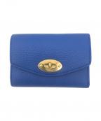 MULBERRY(マルベリー)の古着「Darley 三つ折り財布」 ブルー